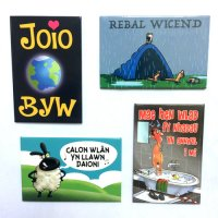 Funny Welsh Magnets - Pack of 4 Magnets