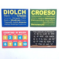 Learn Welsh Magnets - Pack of 4 Magnets