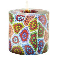 Mosaic Pillar Candle - 600/C22