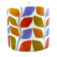 Autumn Leaves Pillar Candle - 600/N36