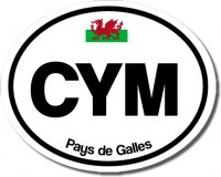 3 'CYM' Black & White Bumper Stickers