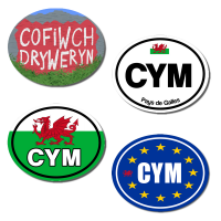 Set of 4 Welsh Bumper Stickers