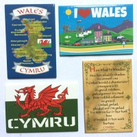 I love Wales Magnets - Pack of 4 Magnets