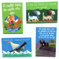 Welsh nursery rhyme Magnets - Pack of 4 Magnets