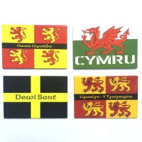 Welsh Flags - Pack of 4 Magnets