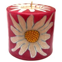 Daisy Pillar Candle - 600/NB5