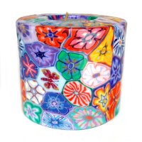 Floral Pillar Candle - 600/CL1