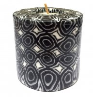 Black & White Pillar Candle - 600/BW3