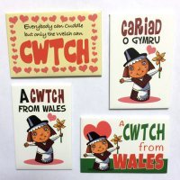 Cwtch Magnets - Pack of 4 Magnets