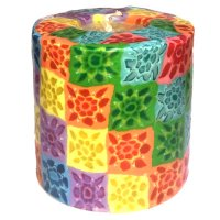 Colourful Pillar Candle - 600/N4