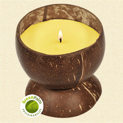 Fair Trade Cananga Scented Candle - 482d