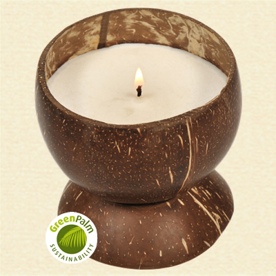 Fair Trade Coconut Scented Candle - 482a