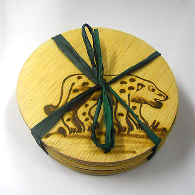 Pack of 6 Leopard Coasters - 455
