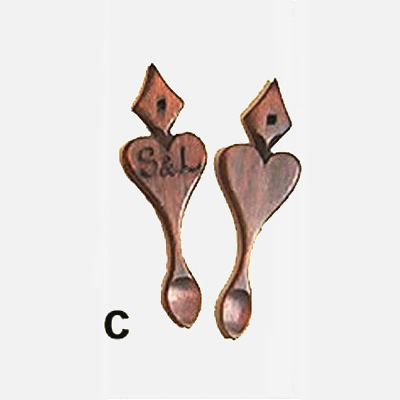 Mini Lovespoon Wedding Favours C (less than 40) - FAV-C - Click Image to Close