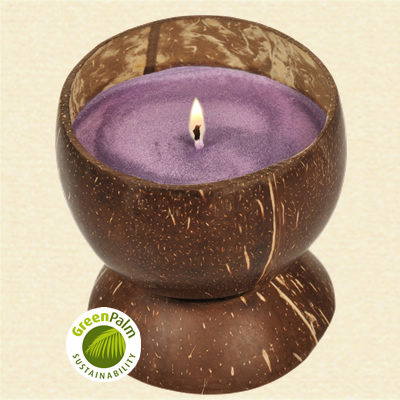 Fair Trade Lavender Scented Candle - 482b