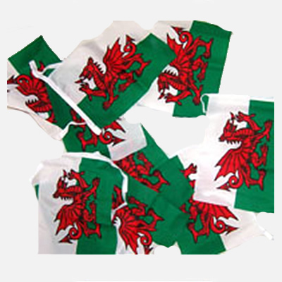 Red Dragon Bunting - 319 - Welsh Flags