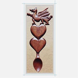 Welsh Dragon Spoon - 003 - Welsh Love Spoons