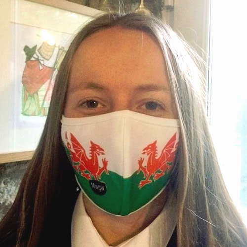 Welsh Dragon 4-layer Face Mask - Click Image to Close