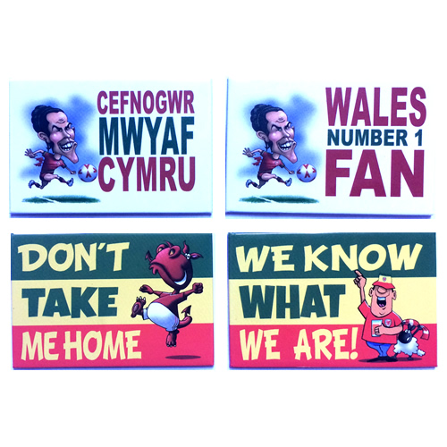 Welsh football Magnets - Pack of 4 Magnets - Click Image to Close